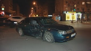 2 такси не разъехались на перекрёстке