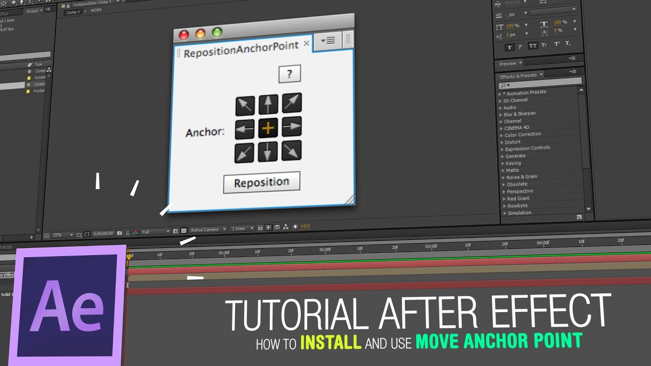 After Effects Tutorial - How to Install and Use Move Anchor Point - YouTube