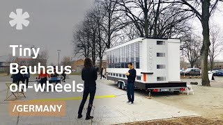 A tiny Bauhaus School/home on-wheels to debate future of housing