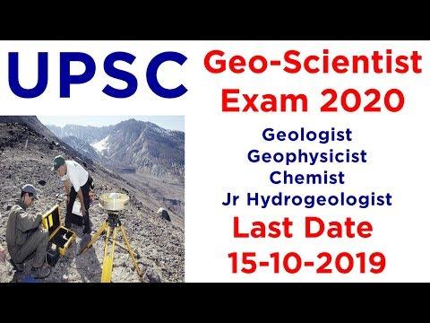 UPSC Combined GeoScientist Exam 2020 UPSC Geologist Exam