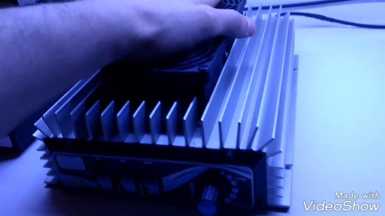 Demonstração amplificador linear RM Italy KL505V