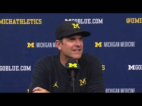 Michigan Postgame Press Conference Jim Harbaugh vs. Maryland