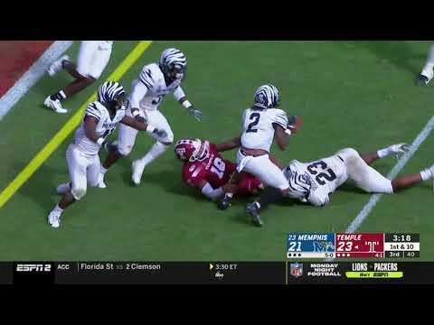 Memphis Football @ Temple -  Full Memphis Highlights