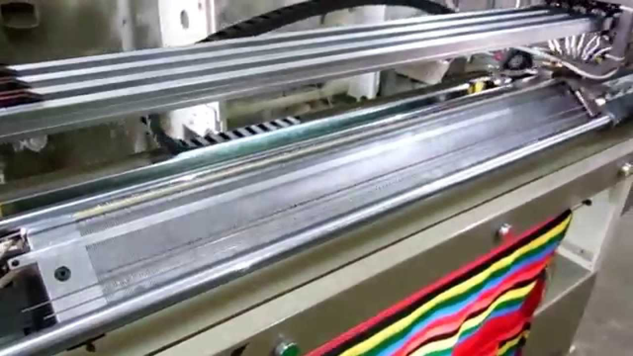 Flat Knitting Machine V Bed Youtube