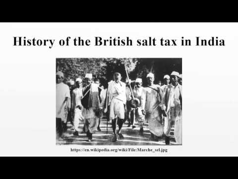 History of the British salt tax in India
