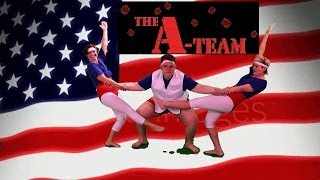 liquid feet dances to america and the a team theme song