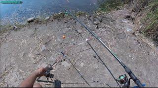 Отличная рыбалка на Софиевском водохранилище. Используя резинку и кормушку  1 часть