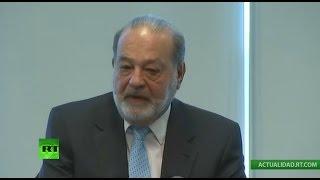 Rueda de prensa de Carlos Slim sobre México y Donald Trump
