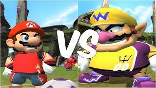 Super Mario Strikers - Mario vs Wario - GameCube Gameplay (720p60fps)