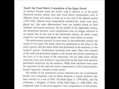 Six Songs from the Qajar Period