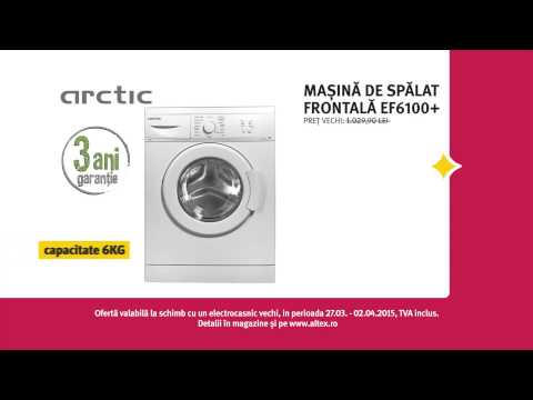 Reclamă ALTEX mașină de spălat Arctic martie 2015