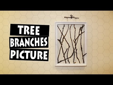 DIY Framed Tree Branches   AMAZING Wall Decor Idea