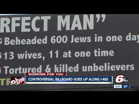 INDIANAPOLIS MUSLIMS OUTRAGED OVER BILLBOARD BECAUSE IT TELLS THE TRUTH