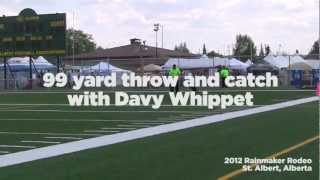 Davy Whippet Catches A 99 Yard Throw With A Hero Disc At The 2012 Rainmaker Rodeo