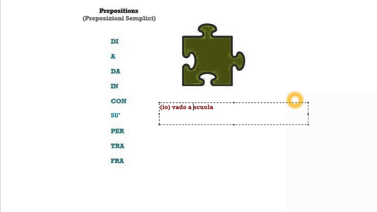 Italian Course Beginner Series Lesson 31: PREPOSITIONS