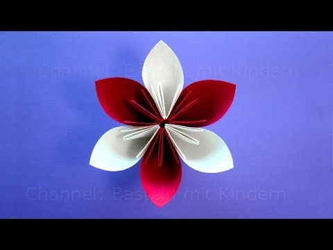 origami blume basteln mit kindern einfache bastelideen blumen basteln mit papier viyoutube. Black Bedroom Furniture Sets. Home Design Ideas