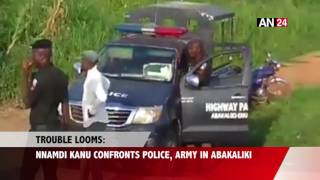 See What Happened When Nnamdi Kanu Clashed With Security Forces in Abakaliki