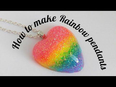 "Tie Dye Effect Cabachon glass dome Necklace Pendant.20/"" chain"