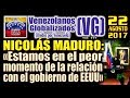 """Nicolás Maduro: """"Estamos en el peor momento de la relación con el gobierno de EEUU"""" – (VG)"""