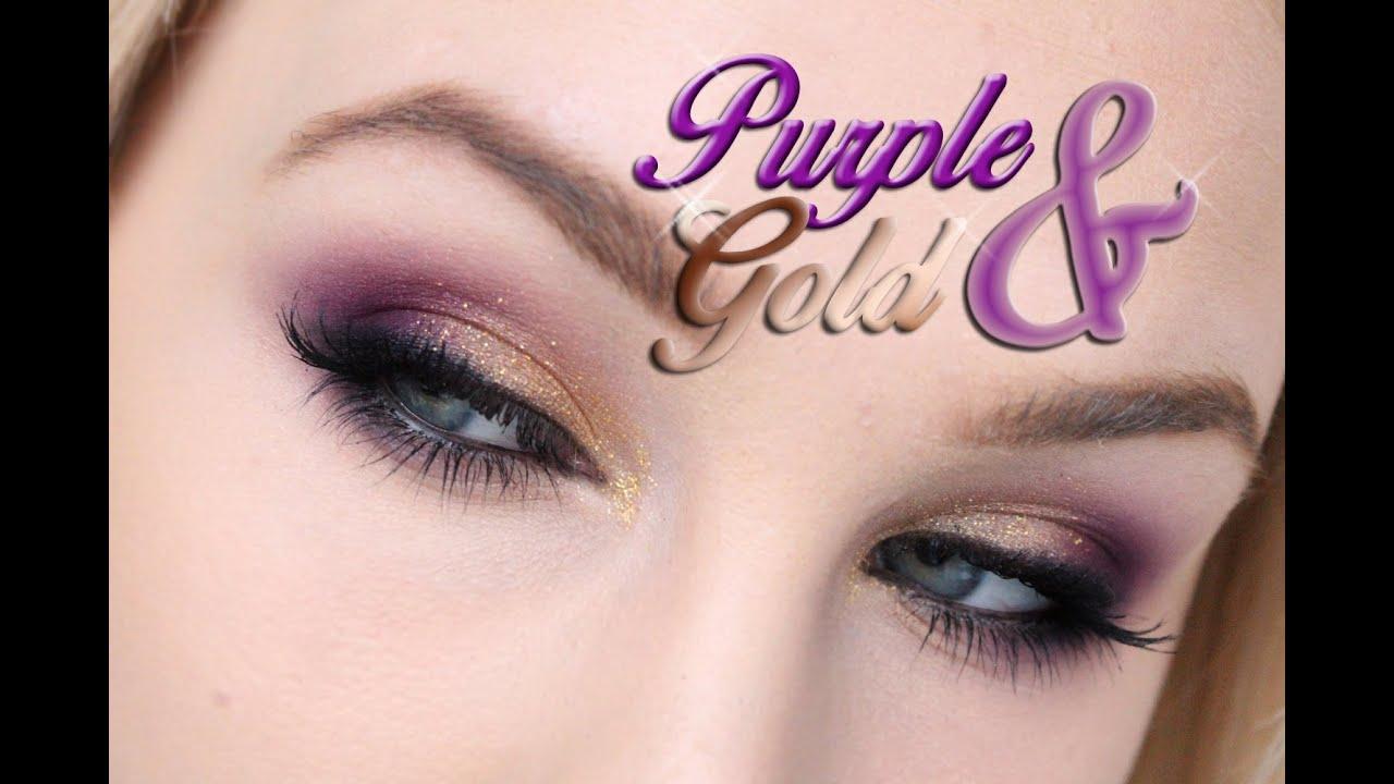 Gold Purple Eye Makeup You
