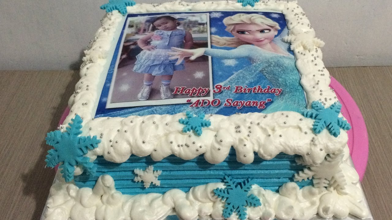 Edible Cake Pictures Frozen : Frozen Elsa Edible Cake Decorating - YouTube
