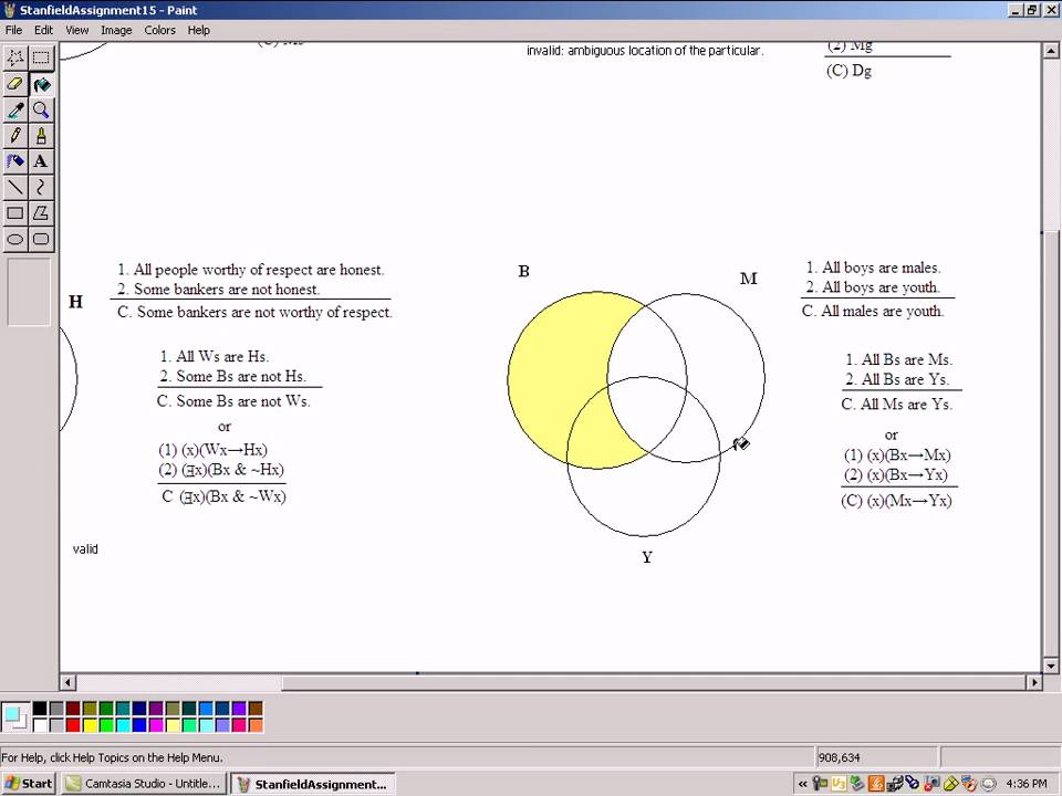 3 Circle Venn Diagram Exampleavi Youtube