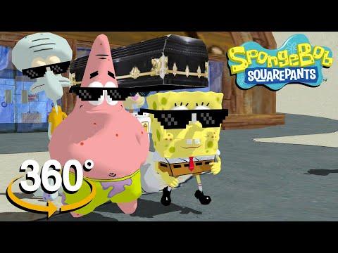 Spongebob Squarepants! - 360°  - Coffin Dance Meme! (The First 3D VR Game Experience!)