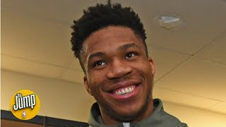 Will becoming a father turn Giannis Antetokounmpo into a knockdown 3-point shooter? | The Jump