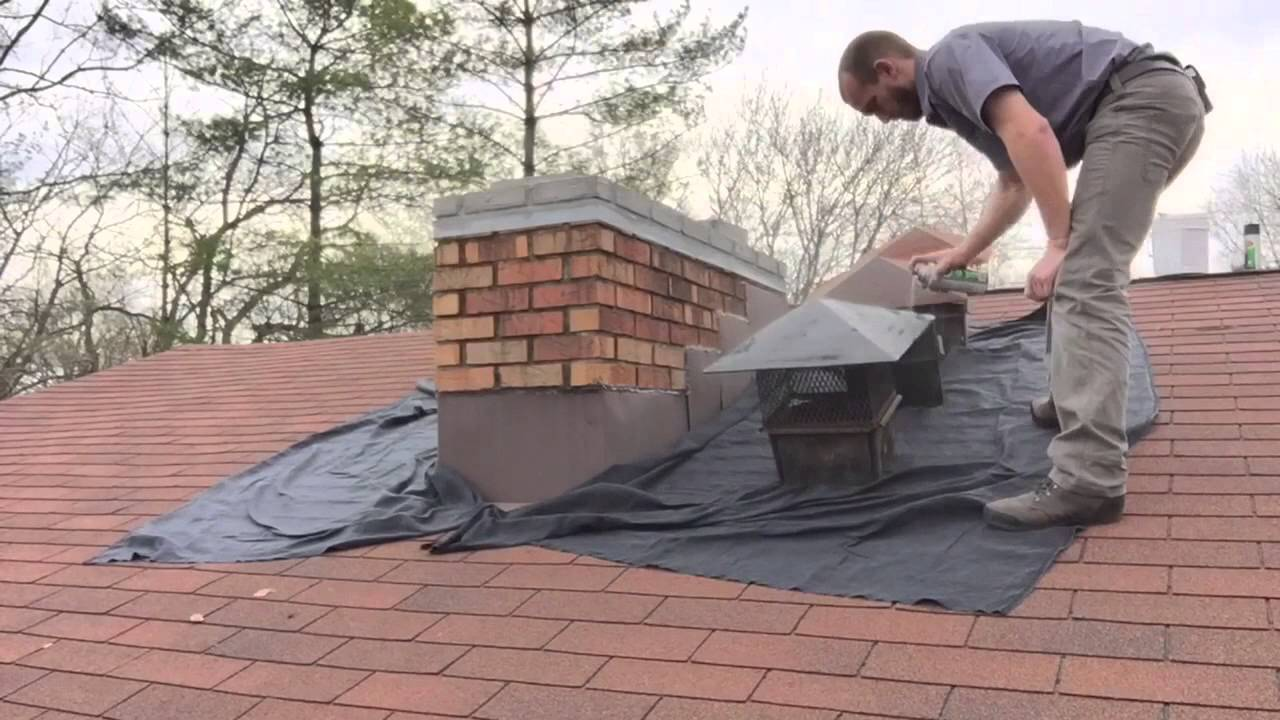 Cement Chimney Repair : Cement chimney crown repair waterproofing with