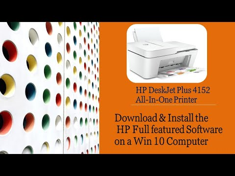 HP Deskjet Plus 4152 |4155 |4158 : Download & Install HP Full featured Software on a Win 10 computer