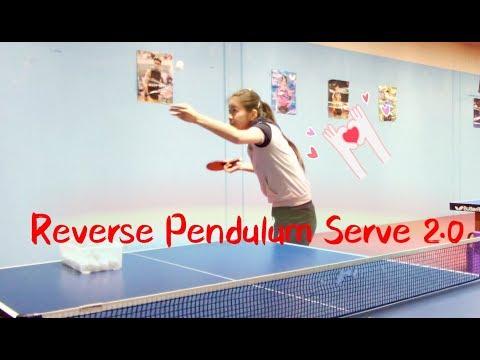 How to Serve Reverse Pendulum (2.0 Version)--Yangyang's table tennis lessons