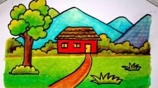 cara menggambar taman bermain anak untuk anak SD ViYoutube