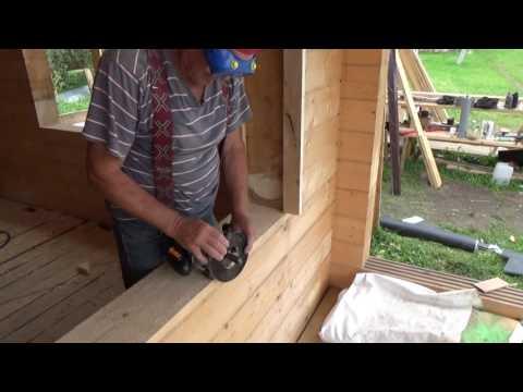 Как сделать окосячку в брусовом доме своими руками