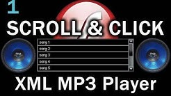 1. Flash Scroll and Click Songs MP3 Playlist Player Actionscript 3.0 XML Tutorial