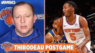 Thibodeau Impressed With Knicks Bench Despite Loss To Warriors
