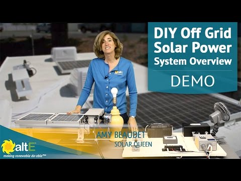 A DIY Off-Grid Solar Power System Overview and Wiring