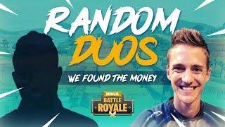 Duos aléatoires - Nous avons trouvé l'argent! - Fortnite Battle Royale Gameplay - Ninja