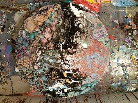 Fluid  Art  Splash  Painting  ' SPLASH '  Stuart Wimbles  Free  Your  Mind  Art