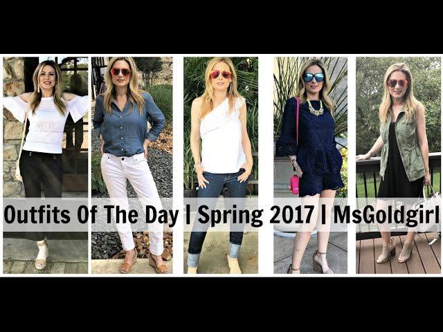 Outfits Of The Day | Late Spring 2017 | MsGoldgirl
