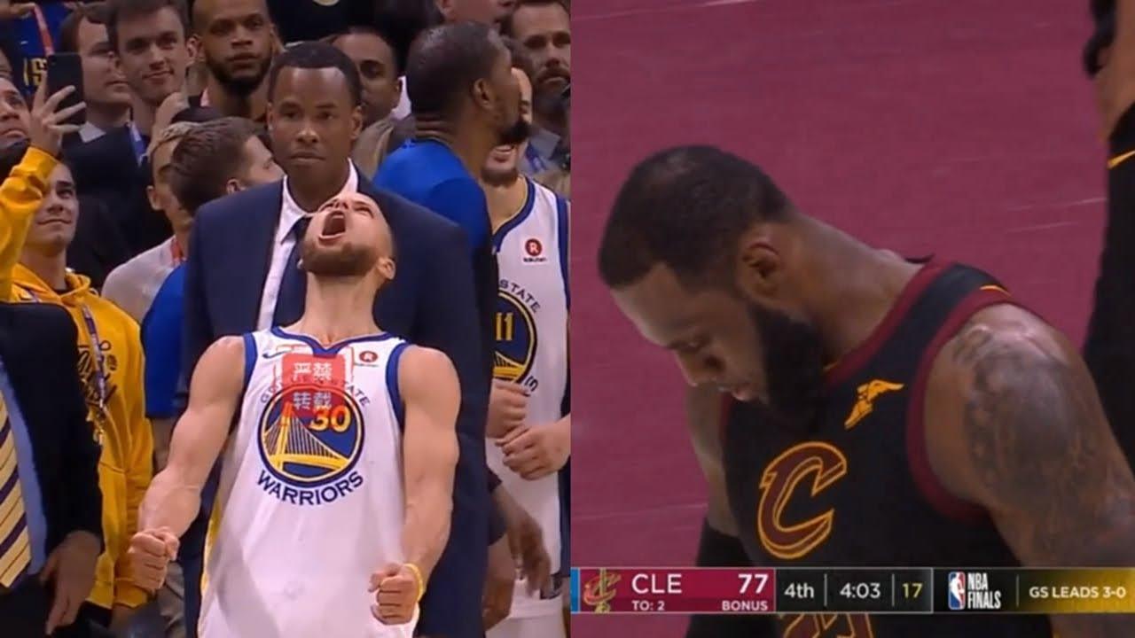 72af4c2aecf0 LeBron James  Last Game In Cleveland!Warriors VS Cavs Game 4 Amazing Final  Minutes!