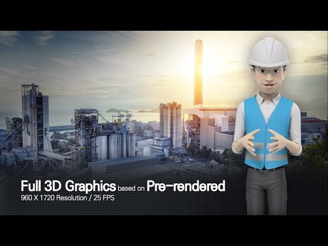 3D Character Animation After Effects by Male with Worker Style - After Effects Template