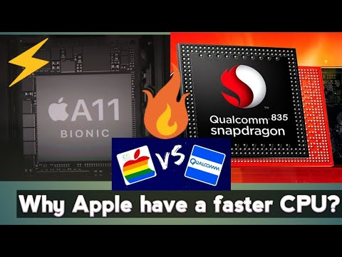 Apple A11 vs Qualcomm Snapdragon 835? Apple Vs Qualcomm!? Why Apple is Faster!!?🔥⚡️🌨️