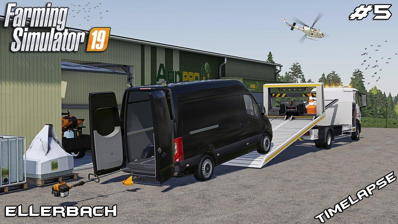 BUYING Mercedes VAN & STILL equipment   Lawn Care on Ellerbach   Farming Simulator 19   Episode 5