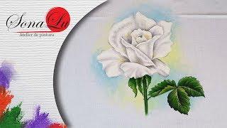 Rosa Branca em Tecido