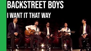 Baixar Backstreet Boys - I Want It That Way (acoustic) | sub Español + lyrics