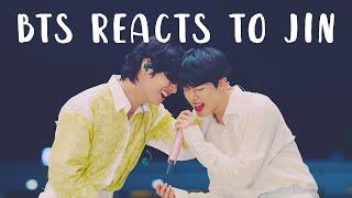 bts reacts to jin | 방탄소년단 석진 p9