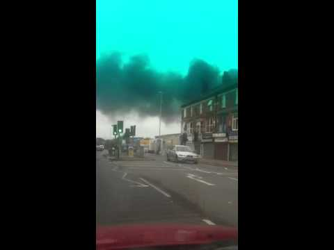 Fire In Leicester 25-10-2012