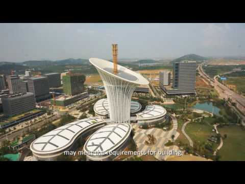 Wuhan Landmark Building Calla Lily Flower in Wuhan Future Ci