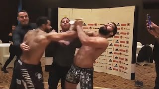 Lose control / Fights during weigh-in Part 1