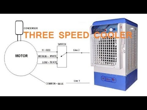 Three Speed Cooler Motor Connection Rotatory Regulator Connection Youtube